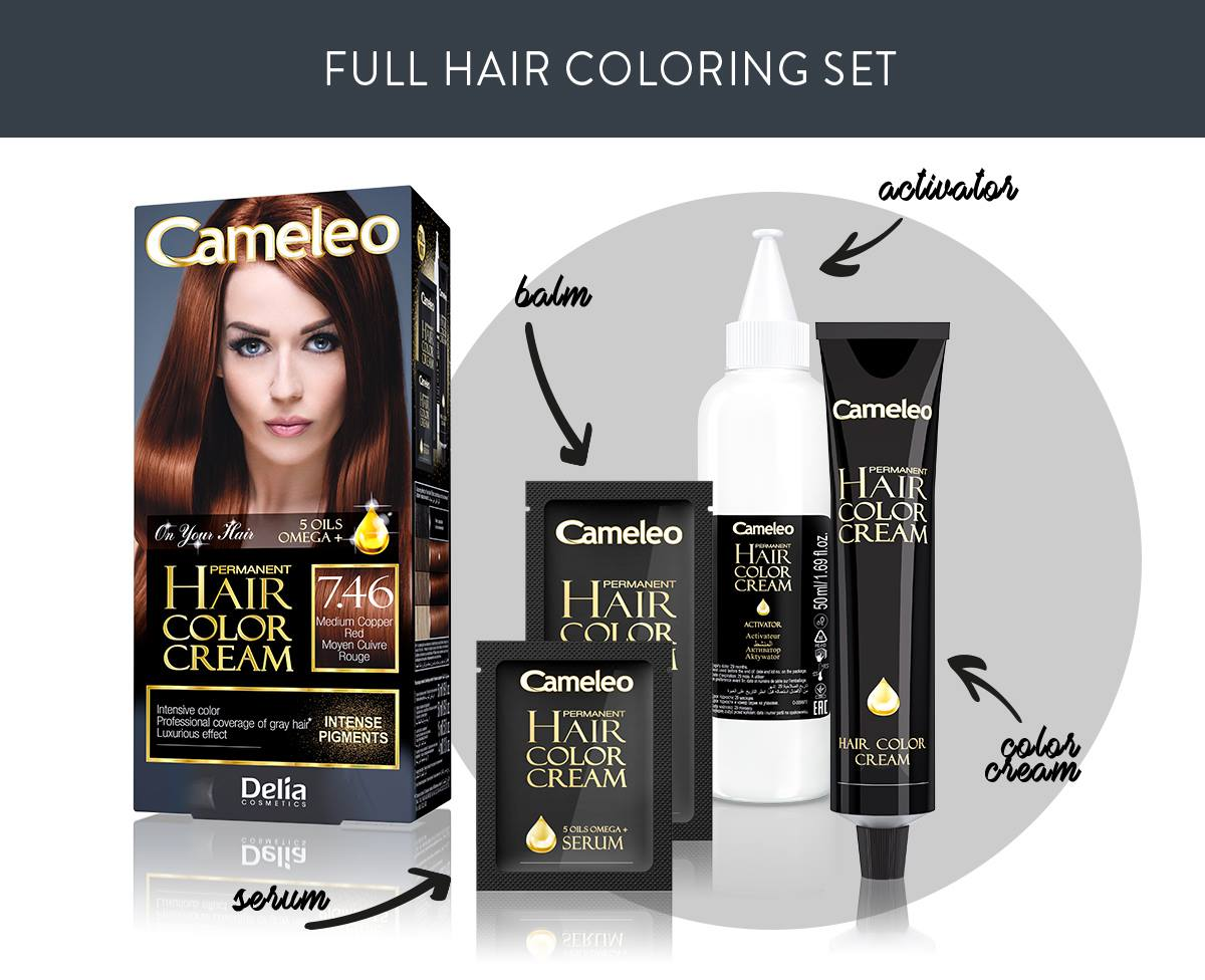Mood hair with Cameleo Omega+ Color Cream – Cameleo – on your hair